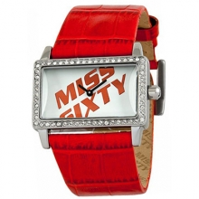 -65% ZEGAREK DAMSKI MISS SIXTY SJ9002 SQUARE RED DESIGN